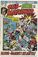 Sub-Mariner #56 1972 FN/VF Marvel Comics Free Bag/Board