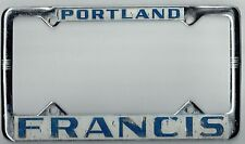 1950s Portland Oregon Francis Ford Vintage California Dealer License Plate Frame