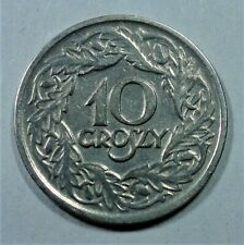 Polen / Poland 10 Groszy Münze 1923- Nickel - Adler - vz /xf