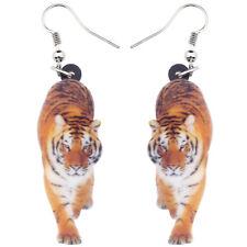 Acrylic Elegant Walking Tiger Earrings Dangle Drop Animal Jewelry For Women Gift