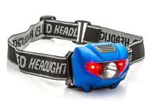 150 Lumen 3 Watt LED Spotlight Headlamp 4 Stage Switch Battery Powered BLUE Body