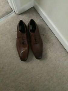 Mens Rockport Brown Leather Brogue Shoes Size 16 New
