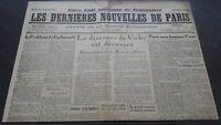 Periodico Los más Reciente Nuevas De París N º 37 Julio 1940 ABE