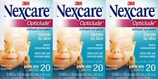 3M Nexcare Opticlude Eye Patch Orthoptic Junior Size 3 Boxes 60 Pcs Expire 2021