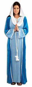 Deluxe Virgin Mary Costume Adult Women Veil Manger Christmas Velvet Manger Std