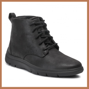 Men's Clarks TUNSIL GROVE Black Synthetic Boots Casual Shoes - CLOUDSTEPPERS