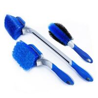3pcs car wheel cleaning brush tire washing kit alloy soft bristle cleaner tool
