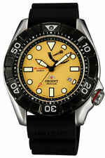 NWT ORIENT M-FORCE Automatic Diver's 200M Yellow Scuba Sports Watch SEL03005Y