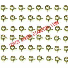 50pcs 11mm Steel Band Moto Scooter ATV Fuel Line Hose Tubing Spring Clips Clamps