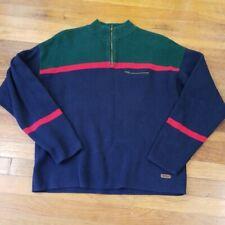 Woolrich Vintage Men Half Zip Color Block Sweater Size L