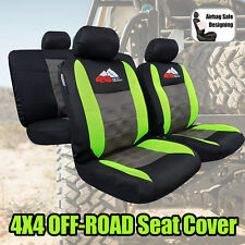 4x4 OFF-ROAD Airflow Spacer Mesh Fluro Green Gray Black Sports Car Seat Covers
