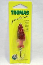 Thomas Fighting Fish 3/8 oz Gold Red Spinning Fishing Lure Spinner Spoons