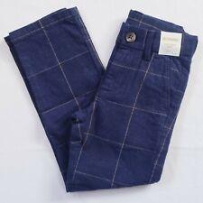 Gymboree Boys Navy Blue Plaid Pants Size 5 Slim Holiday Dressy