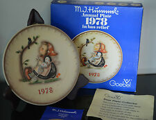 Goebel Hummel 8th Annual Collector Plate 1978 Happy Pastime w/ box