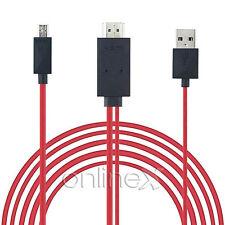 Cable MHL Micro USB a HDMI y USB, HDTV, Móvil TV, Desde España a1723