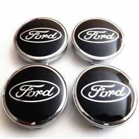 4x  60mm Ford noir argent jantes couvercle moyeux capuchon roue enjoliveur