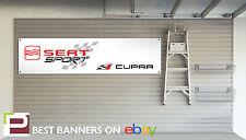 Seat Cupra Taller Garage Banner Ibiza, Leon, Arosa, FR