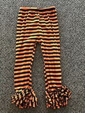 Halloween Ruffle Icing Leggings Size 4 Orange Black