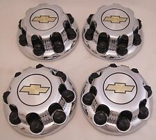 4 New Chevy Silverado 2500 3500 Chrome Factory OEM Center Hub Caps 9597163