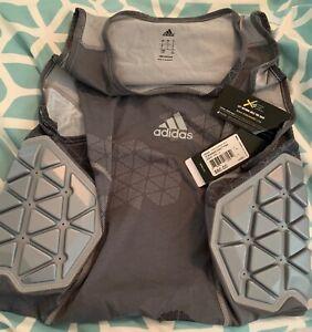 Adidas Techfit Ironskin 3 Pad Tank Vest Top- Gray~ Large~ NEW Tags