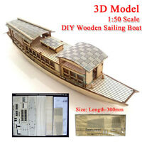1:50 Scale DIY Wooden Sailing Boat Ship 3D Educational Assembly Model Kit Toy