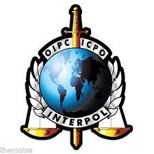 "4"" POLICE INTERPOL OIPC ICPO HELMET BUMPER EMBLEM DECAL STICKER MADE IN USA"
