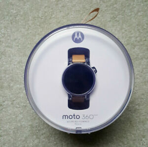 Moto 360 2nd gen 42mm, Silver with Blush Leather - very good condition