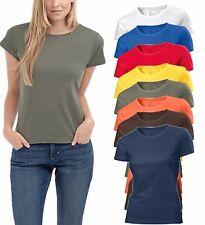 Hanes Sin Etiqueta Liso Algodón Orgánico Mujer Cuello Redondo Tee camiseta