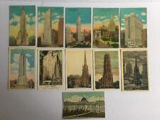 vintage postcards lot Of (11) New York Buildings