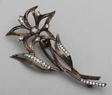 German sterling silver flower pin  Art Deco 1920s  marked Sterling