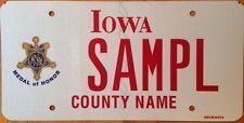 Iowa Medal Of Honor Navy license plate sample Medal Ribbon Military War USMC