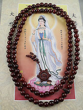 10mm Tibet Buddhism 108 red sandalwood Prayer Bead Mala Necklace