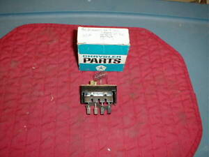 NOS MOPAR 1964-6 A/C BLOWER SWITCH & RESISTOR WITH MODEL 975, L J K HEATERS