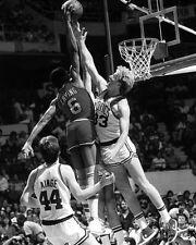Philadelphia 76ers JULIUS ERVING dunking on Larry Bird Glossy 8x10 Photo Dr J