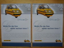 2-4-1 CITY-EL Electric Microcar Trike rare brochure c1998 - City Com Germany
