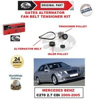 GATES Ventola Alternatore Cintura Kit Tenditore per Mercedes Benz C270 2.7 CDI