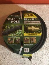New listing Flexon Soaker Hose - Black - 1/2 in x 50 ft 2 Pack = 100 ft Total (New)