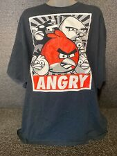 Angry Birds T Shirt 2XL Black 100% Cotton Short Sleeve Graphic Tee