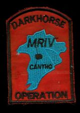 US Army C Troop 16th Cavalry Regt Operation Darkhorse Cantho Vietnam Patch E-2