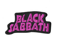 BLACK SABBATH LOGO Iron on / Sew on Patch Embroidered Badge Music Band PT455