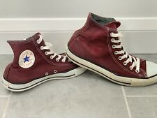 Converse All Star High Tops Maroon Burgundy Purple - Uk Size 8 - Chuck Taylor