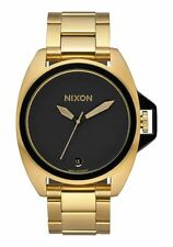 NWT Nixon The Anthem Watch All Gold Black Mens Womens aa77
