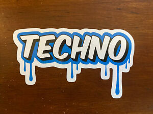 Techno Sticker Music Dripping Waterproof -  Buy Any 4 for $1.75 Each Storewide!
