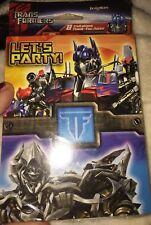 Transformers Birthday Invitations 8 With Thank You Cards Let's Party Sealed