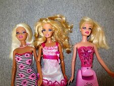 Barbie Dolls Modern Lot of 3 Clothes Shoes  1 Doll Lights Up    P2