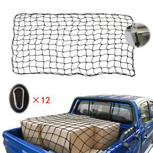 Car Roof Top Rack Mesh Cover Luggage Carrier Cargo Basket Trailer Net w/ Buckles