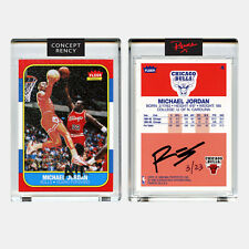 Jordan 1996 Fleer Rookie Card Reverse Dunk Art Diamond Dust RENCY Ltd S/N of 23