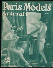 PARIS MODELS ARTCRAFT January c1920s Spicy Nude Figure Art Photos Magazine VF vv