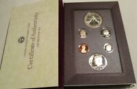 1988 Prestige Proof Set U.S. Mint COA Box 6 coin with Olympics Silver Dollar