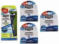 Schick Hydro 5 Premium  Power Select 1 Razor 1 Cartridge + (3 Packs of 2)